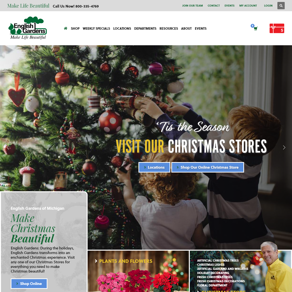 Garden Nurseries, Landscaping Services & Design, Florists, Patio Furniture and the Areas Largest Christmas Stores in the Detroit