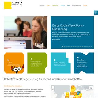 Roberta – Lernen mit Robotern – Spielerisch programmieren lernen - Roberta