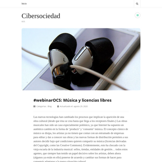 Cibersociedad - OCS