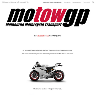Melbourne Motorcycle Transport & Towing - MotowGP