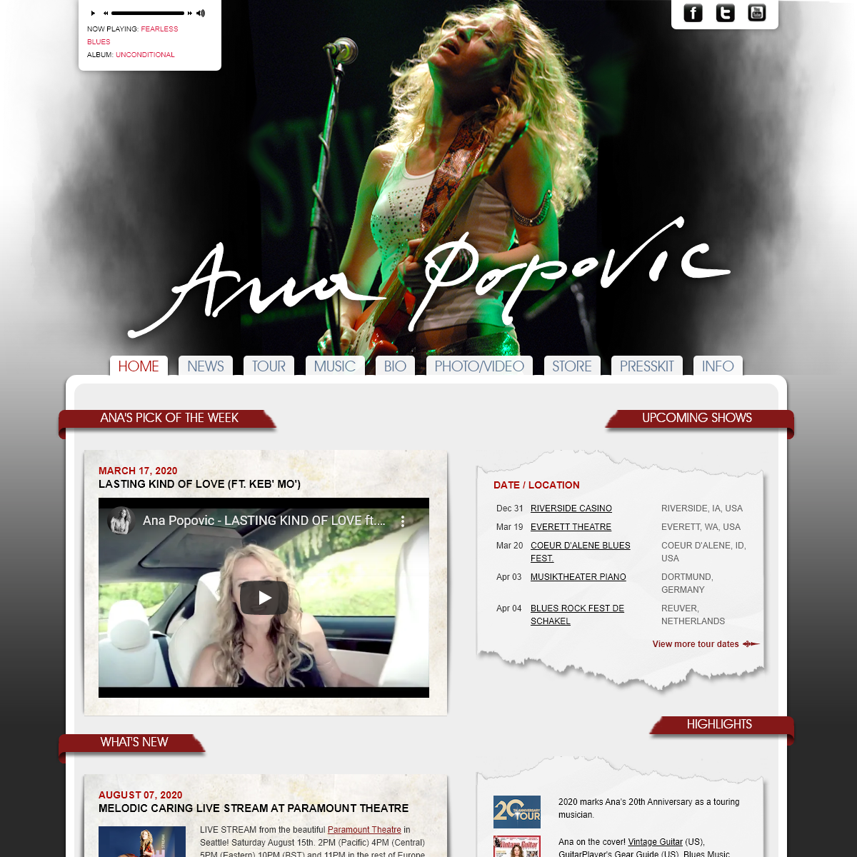 Ana Popovic - The Official Site - Home