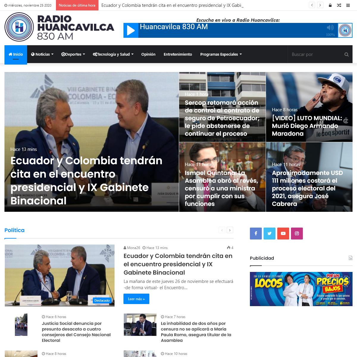 Noticias e Información - Radio Huancavilca 830AM