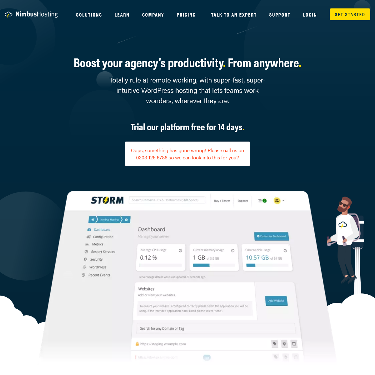 Nimbus Hosting- Making Your Agency More Efficient - Simple, Fast, Secure