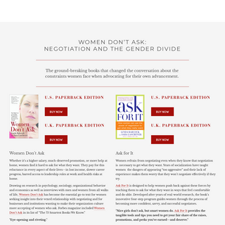 Women Don`t Ask — SARA LASCHEVER