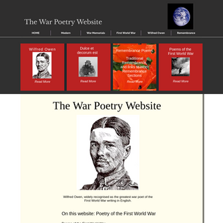THE WAR POETRY WEBSITE, First World War, Remembrance Poems, Modern
