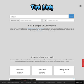 TiniLink - Best URL Shortener
