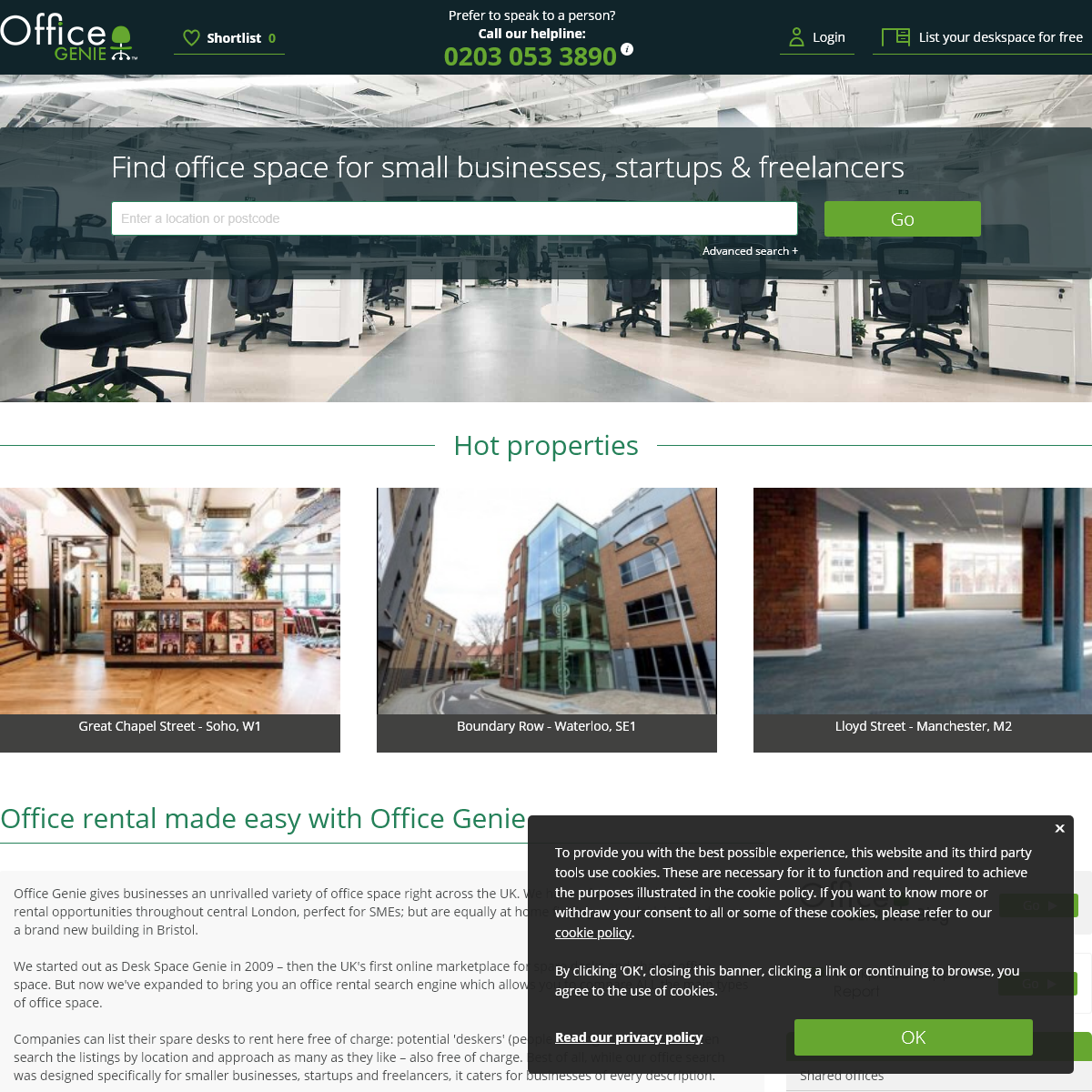Office Space - Search Spare Desk Space, Shared Offices, and Serviced Offices to Rent