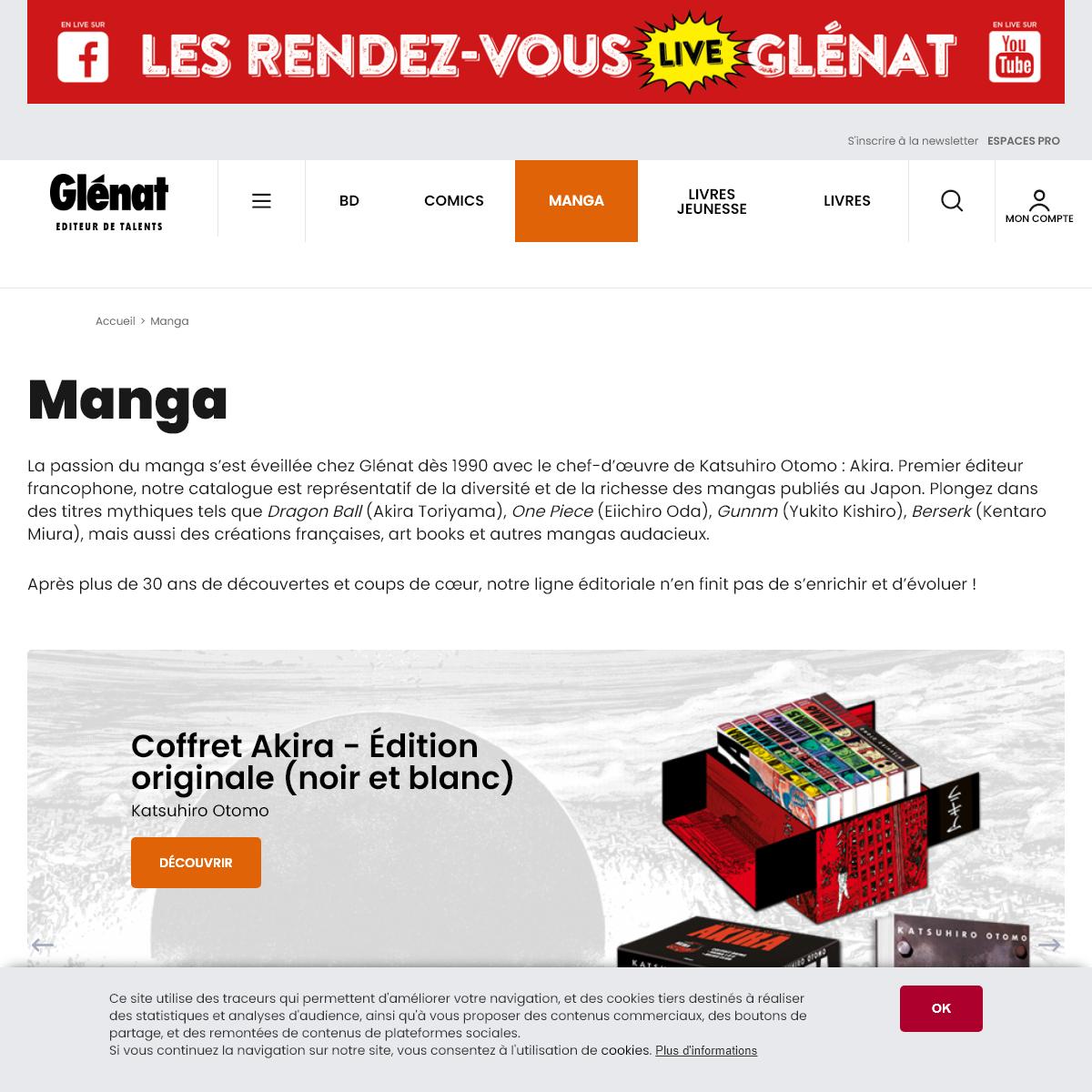 Manga, Shojo, Seinen, Shonen - Éditions Glénat