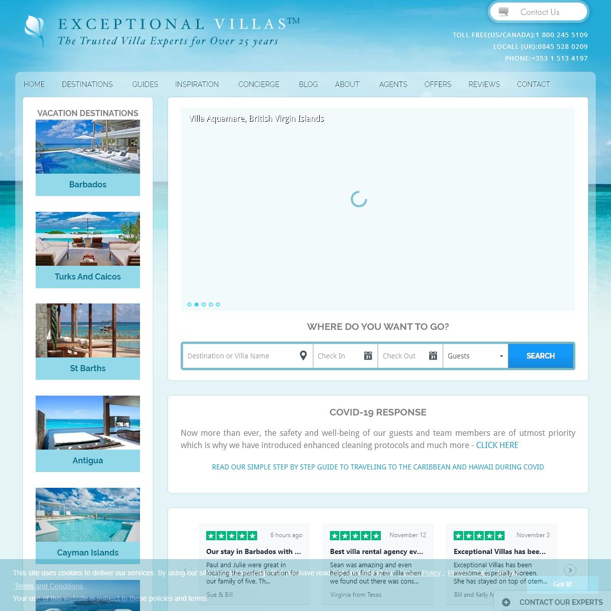 Luxury Vacation Rentals by Exceptional Villas