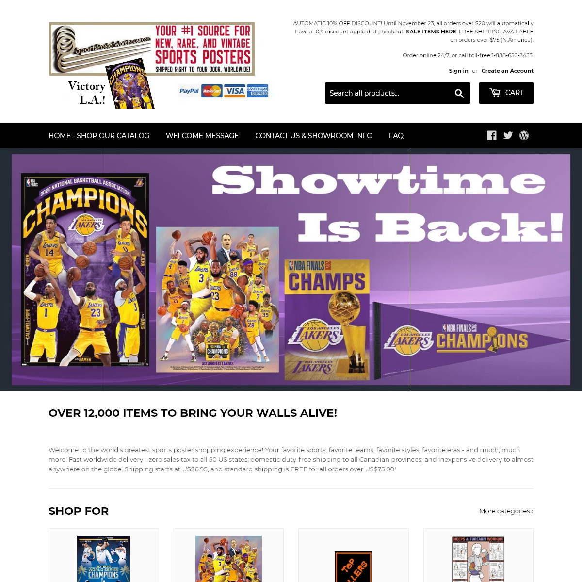 The Sports Poster Warehouse - Worldwide Delivery, Greatest Selection