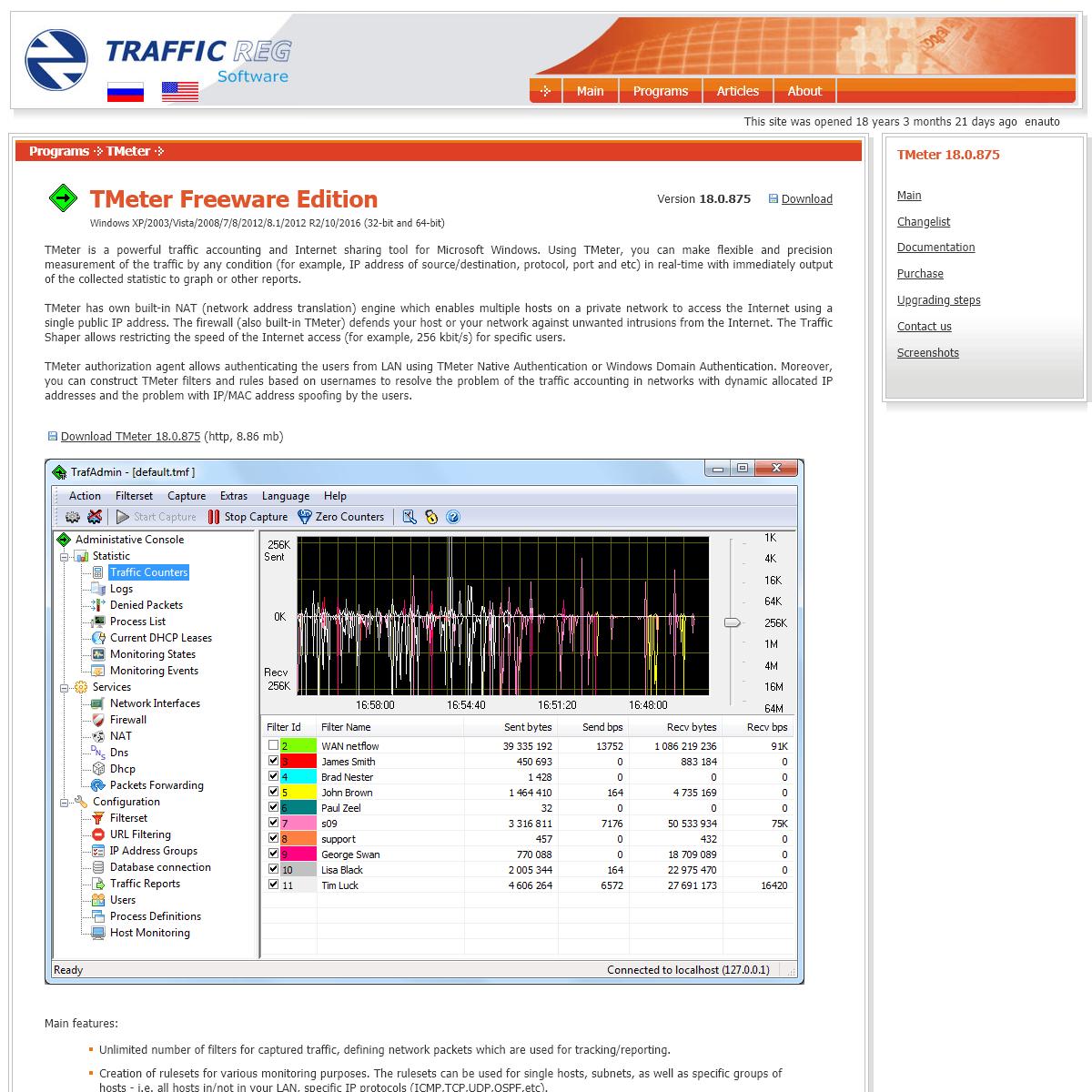 Network traffic accounting, NAT, shaper, firewall