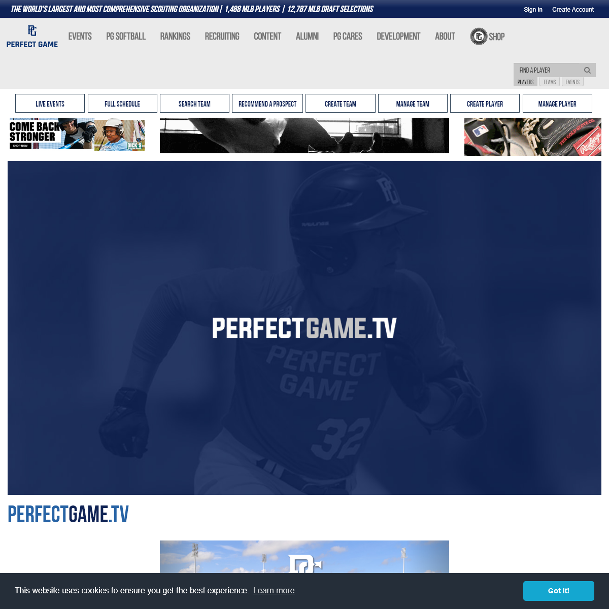 Perfect Game USA - World`s Largest Baseball Scouting Service
