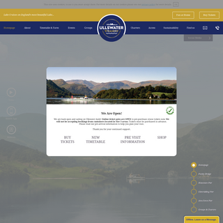 Ullswater `Steamers` - Attraction in the Lake District - Cumbria - UK
