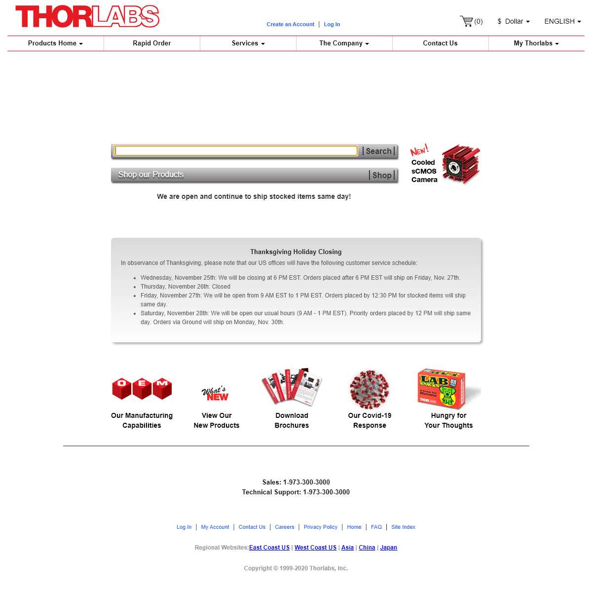 Thorlabs, Inc. - Your Source for Fiber Optics, Laser Diodes, Optical Instrumentation and Polarization Measurement & Control