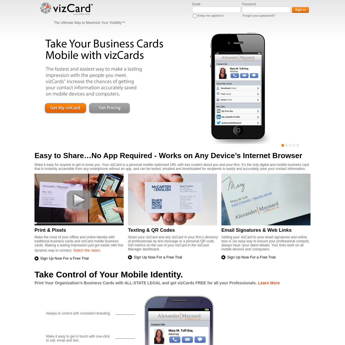 vizCard A Mobile Business Card That Makes A Lasting First Impression