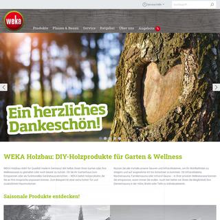DIY-Holzprodukte made in Germany - WEKA Holzbau