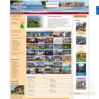 Hotel Bodensee - Das Verzeichnis für Zimmer und Hotels am Bodensee - Bodenseehotels