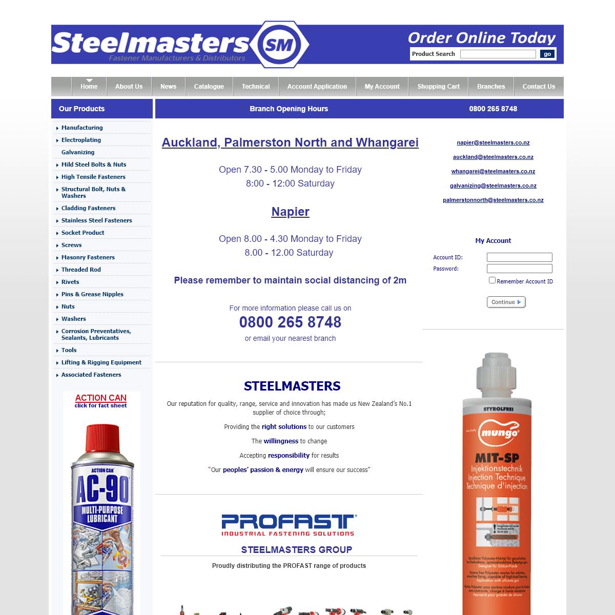 Fasteners Manufacturing & Distributors - Steelmasters