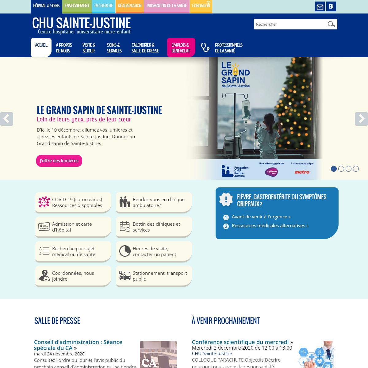 CHU Sainte-Justine - hôpital mère enfant de Montréal