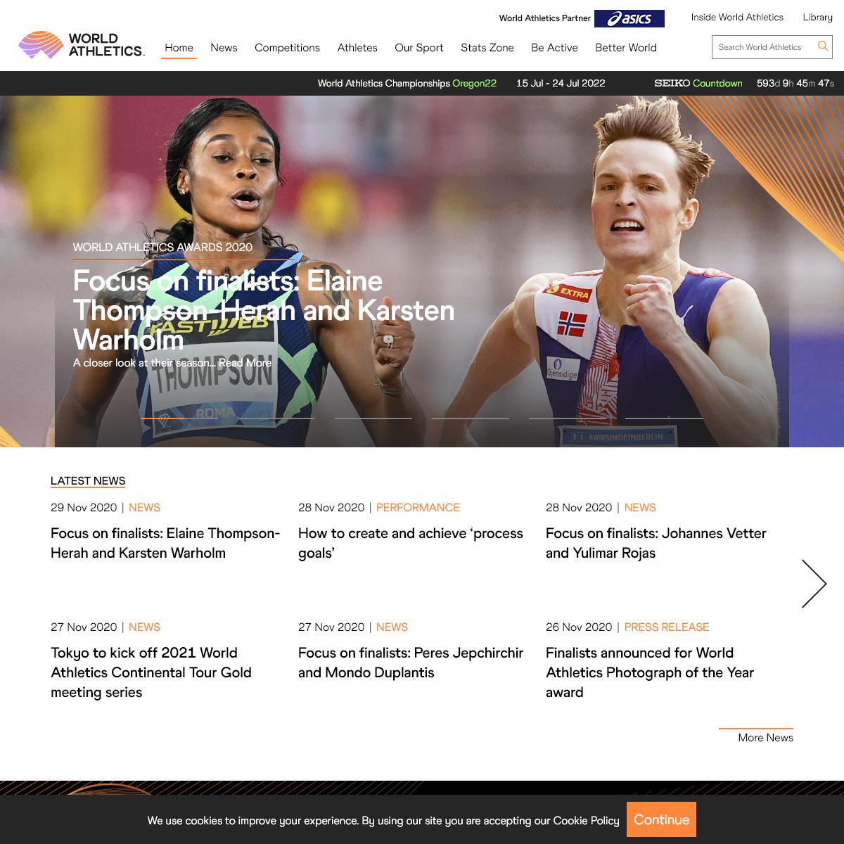 World Athletics Home Page