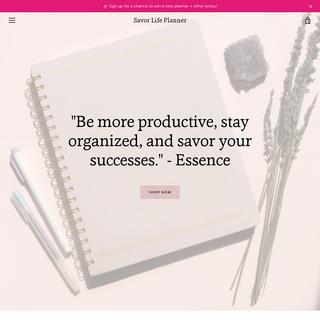 Savor Life Planner -- 90-Day Organizer