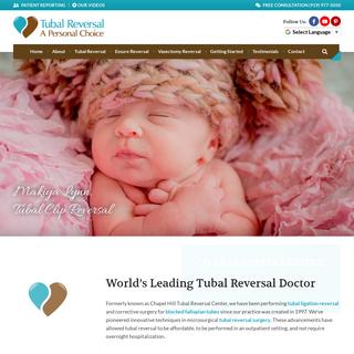 Tubal Reversal Doctors - Essure Reversal Surgery Center - Tubal Ligation Reversal Procedure
