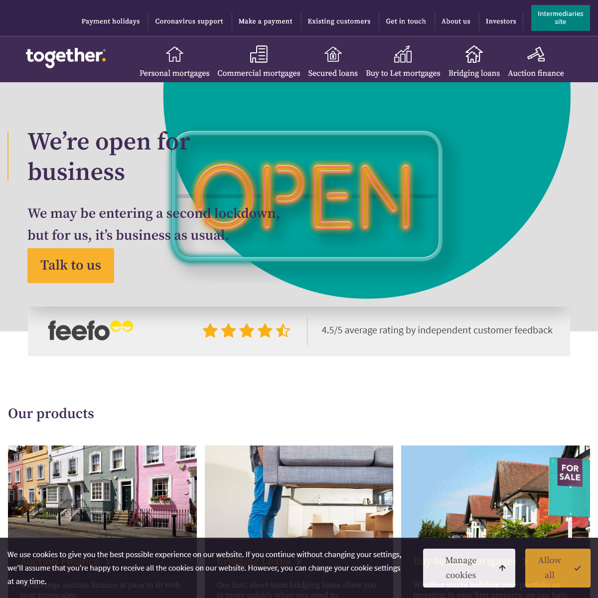 Together - Commercial Mortgages, Bridging Loans & Auction Finance
