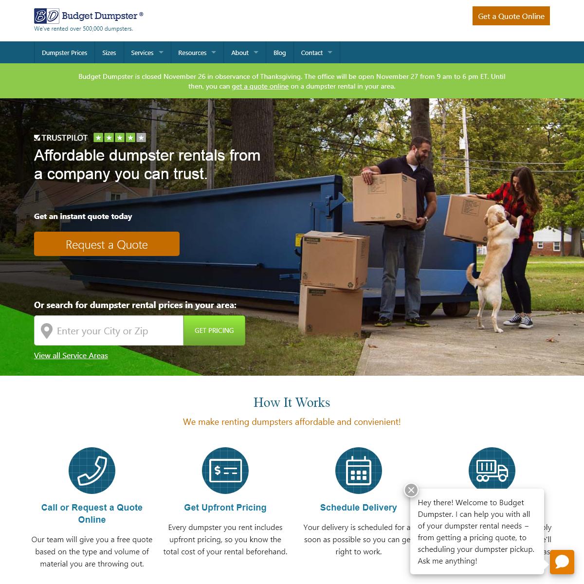 Dumpster Rentals for Less - Budget Dumpster