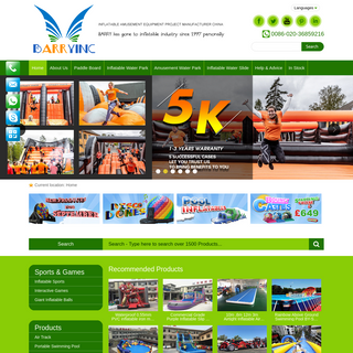 Guangzhou Barry Inflatable Slide Manufacturer, Factory wholesale Price China