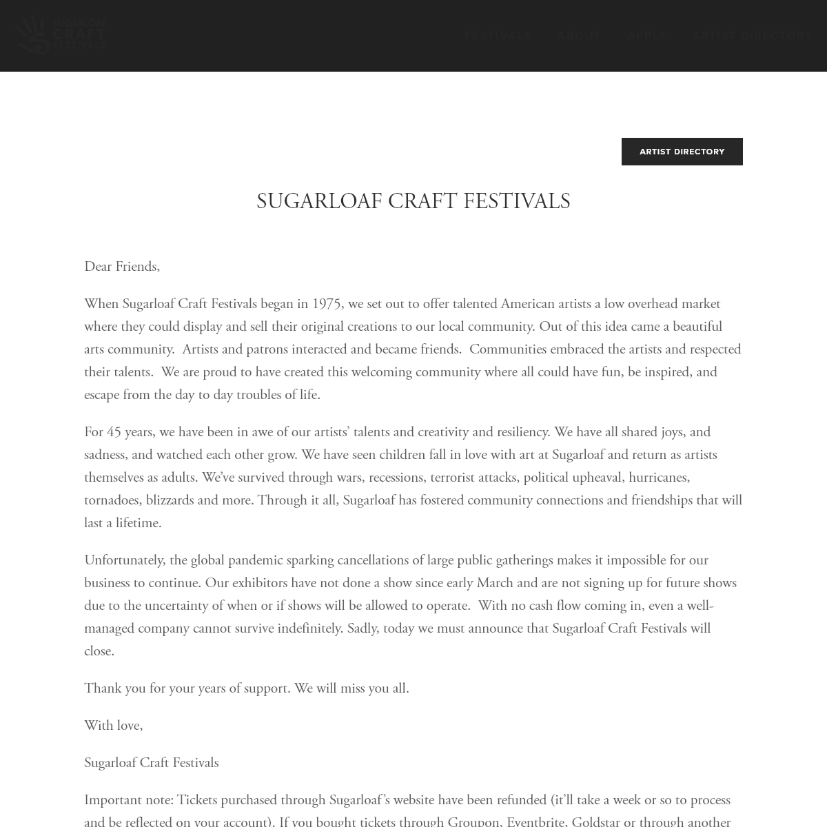 Sugarloaf Craft Festivals