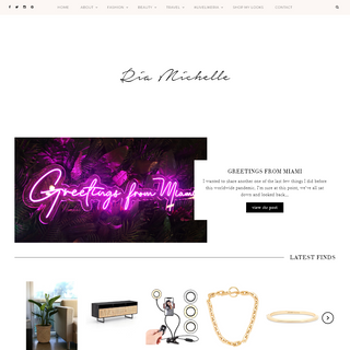 Ria Michelle – Miami-based fashion, lifestyle, and travel blog