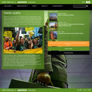 Greenpeace trade-leaks.org - TTIP - CETA - TiSA - JEFTA - MERCOSUR