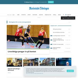 Mariestads-Tidningen- De senaste lokala nyheterna från Mariestad
