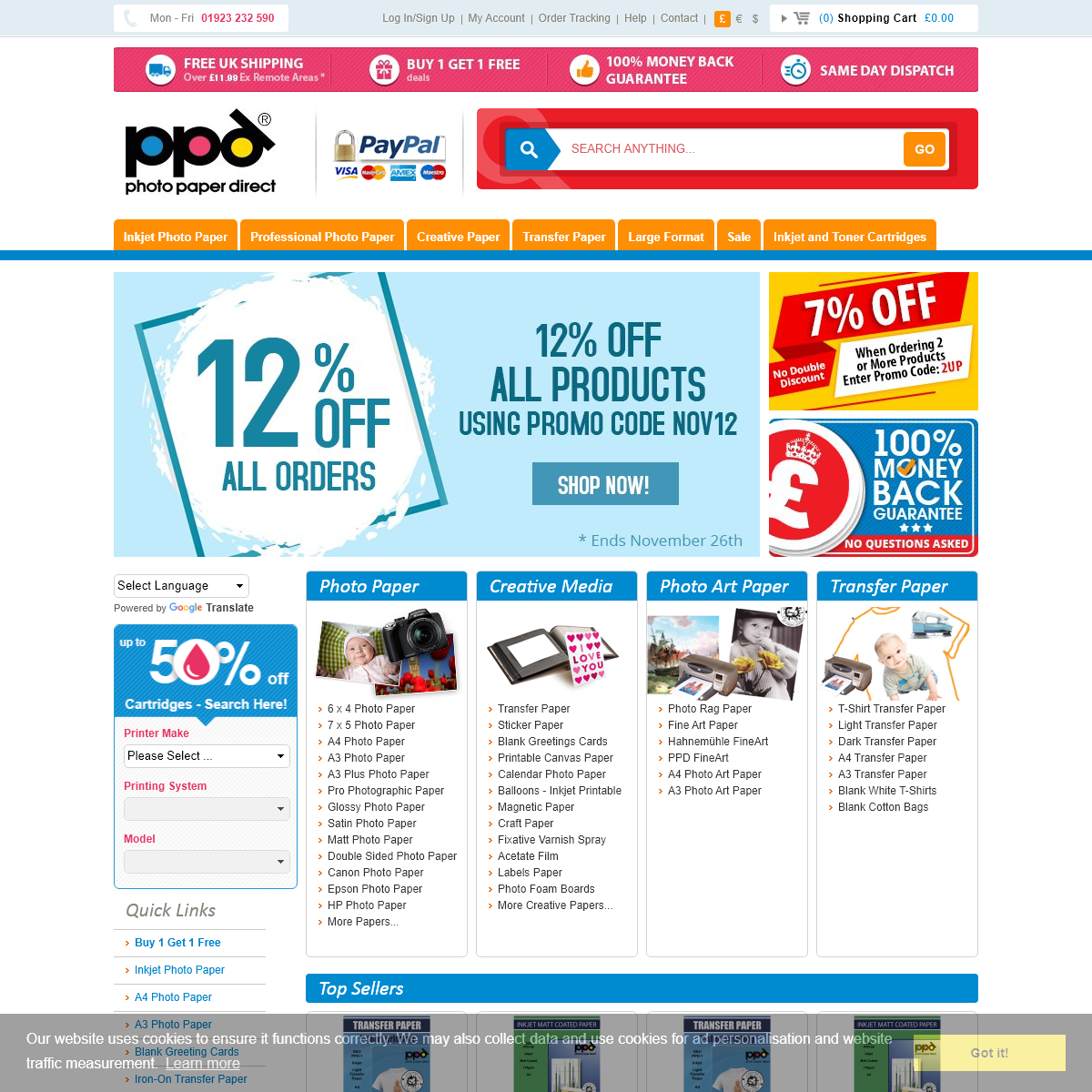 Photo Paper 50- Off With Free UK Delivery at Photo Paper Direct™