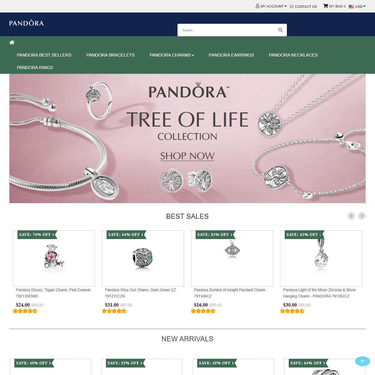 Pandora Official Site - Latest Pandora Charms Discount Sale Online