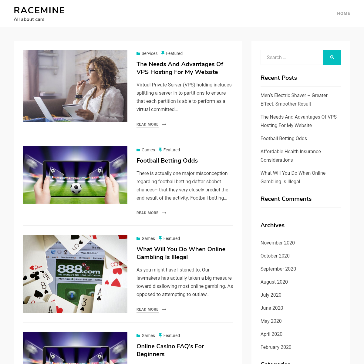 Racemine – All about cars