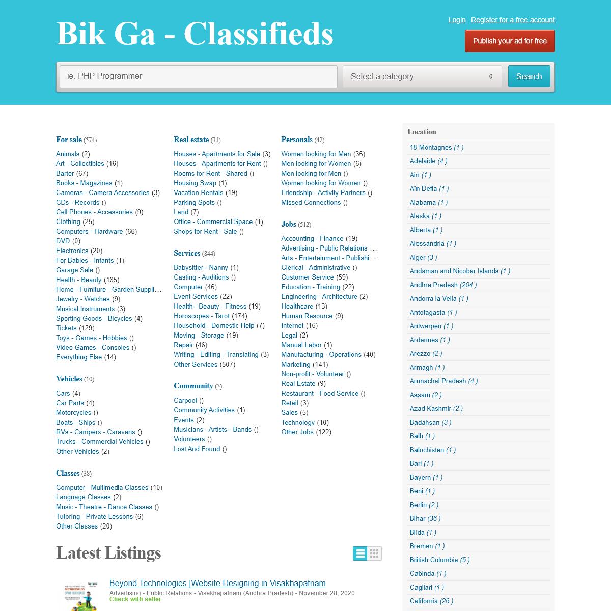 Bik Ga - Classifieds