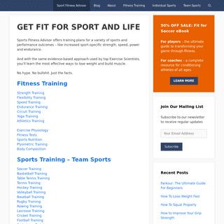 Sport Fitness Advisor - Science Backed Fitness Advice