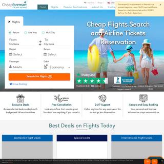 Cheap Flight Tickets, Online Flight Booking - Cheapfaremart
