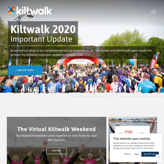 The Kiltwalk - We Donate 50- On Top Of Whatever You Raise