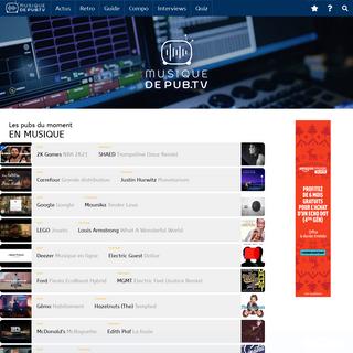 MusiqueDePub.TV, toute la pub en musique