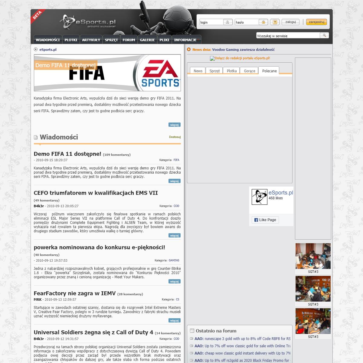 eSports.pl -- Strona główna