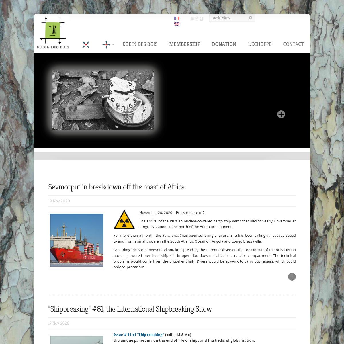 Robin des Bois - Association pour la protection de l`Homme et de l`environnement