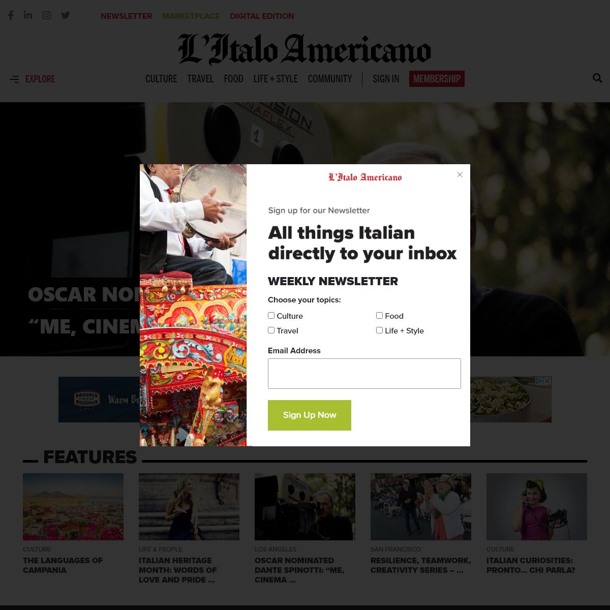 L`Italo-Americano - Italian American bilingual news source