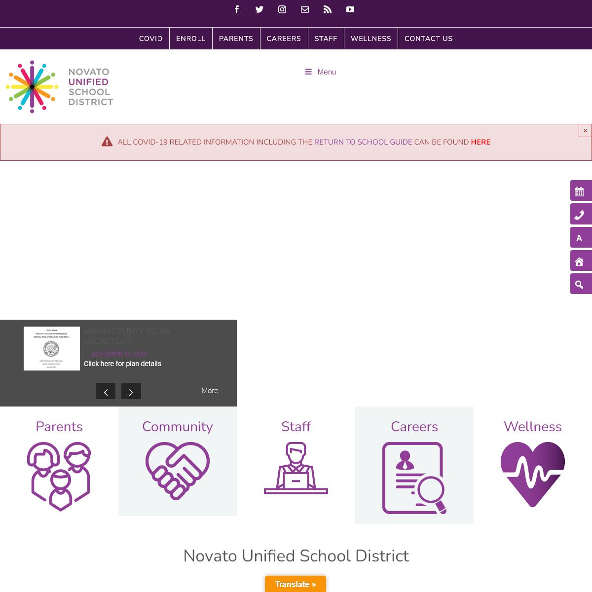 Novato Unified School District - Home