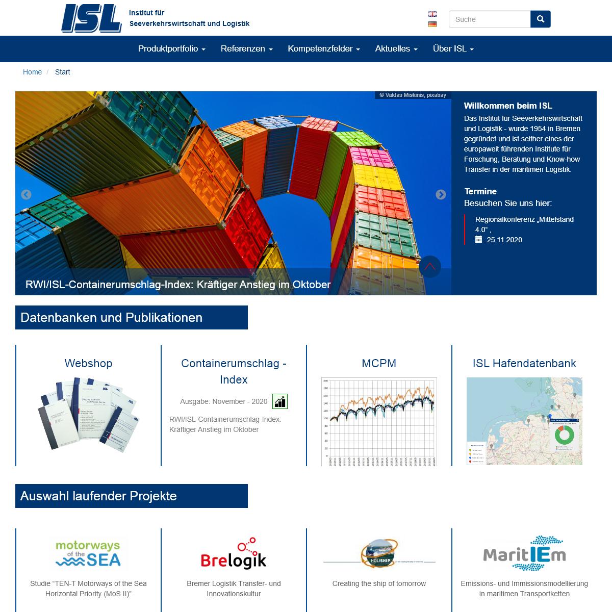 Startseite - ISL - Institut für Seeverkehrswirtschaft und Logistik