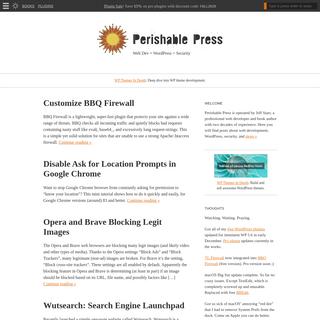 Perishable Press - Web Dev + WordPress + Security