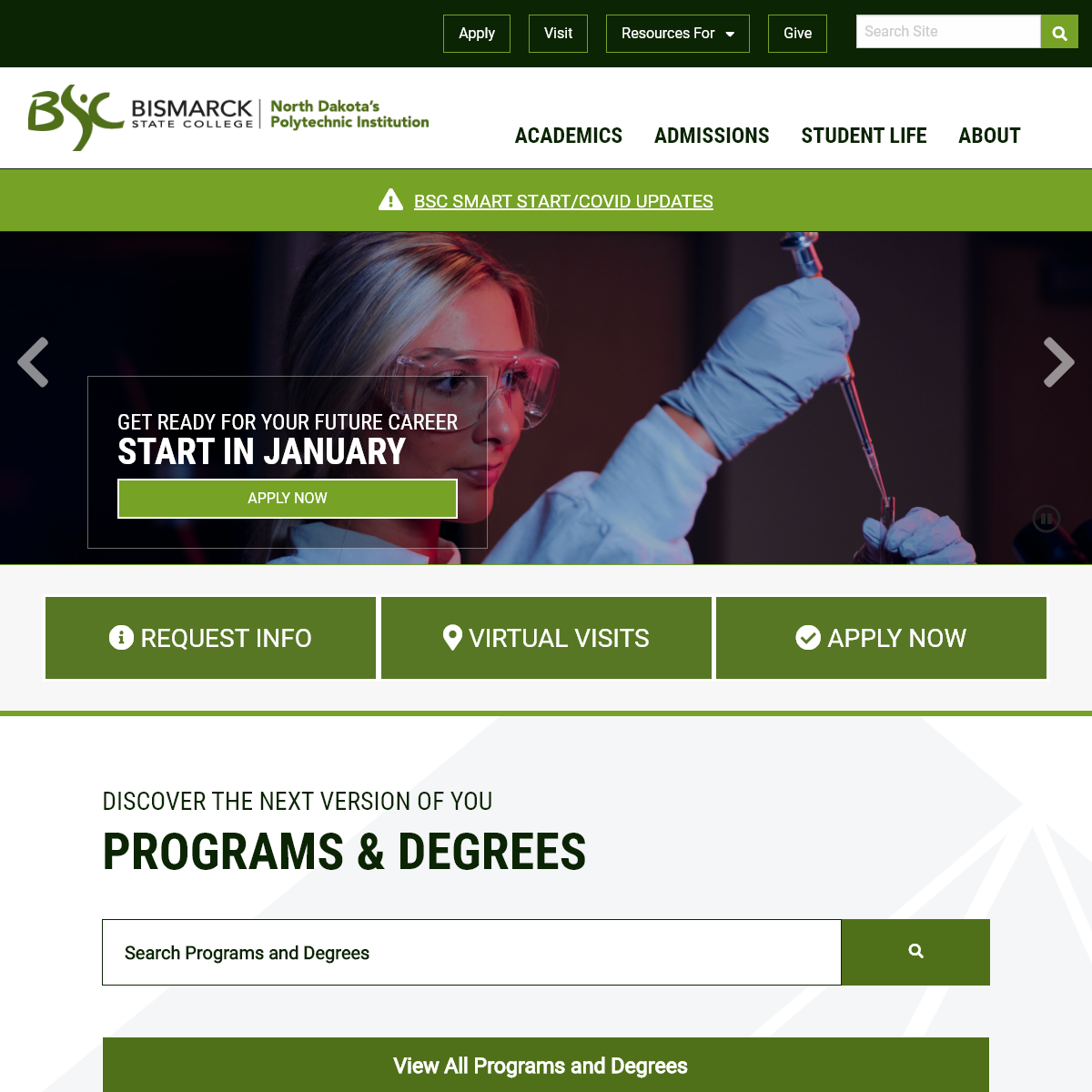 Bismarck State College - Discover the Next Version of You