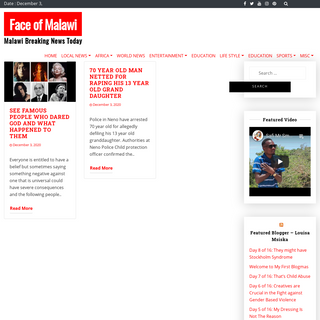 Face of Malawi - Your source for Malawian News