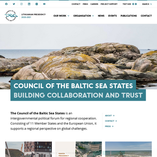 CBSS – Council of the Baltic Sea States – Building Collaboration and Trust